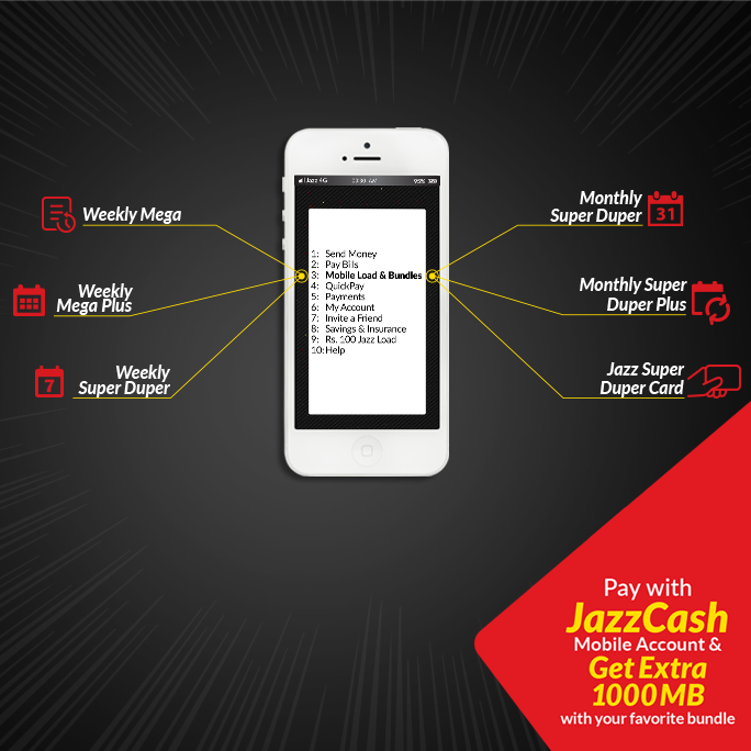 GSM Bundles Activation - JazzCash
